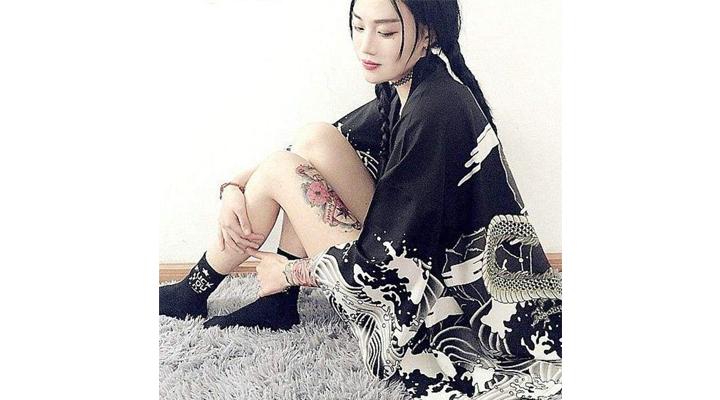 Cardigan Kimono Japonais Dragon Femme,