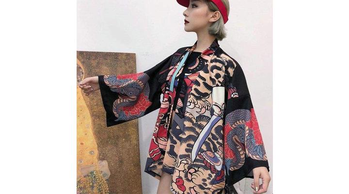 Veste Kimono Créatures Japonaises