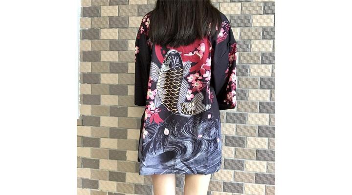 Veste Kimono Femme Carpe Koï
