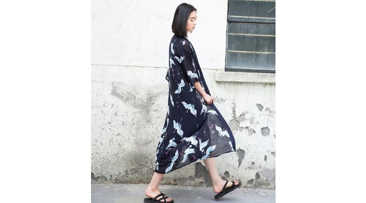 Veste Kimono Femme Longue Légère