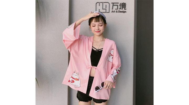Veste Kimono Femme Maneki Neko