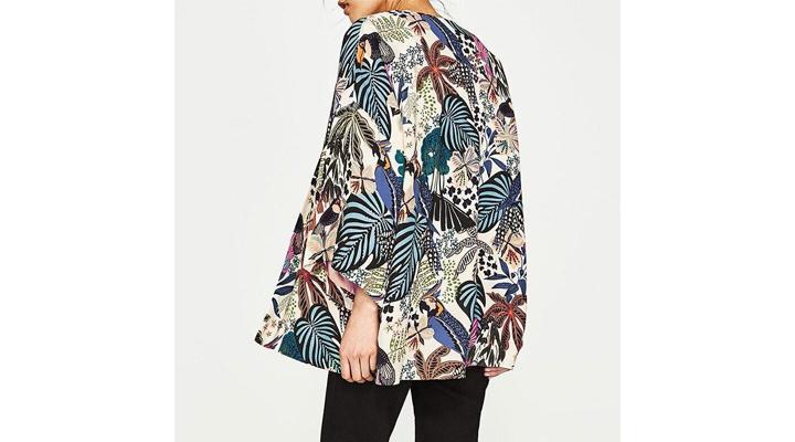 Veste Kimono Fleurie Femme