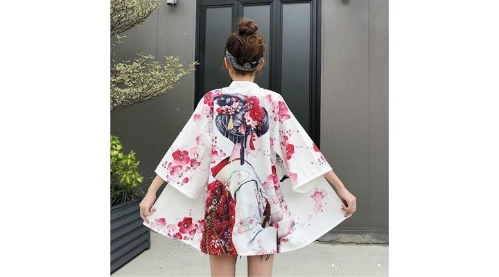 Veste Kimono Femme Geisha